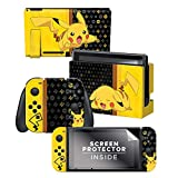Controller Gear Nintendo Switch Skin & Screen Protector Set - Pokemon - 'Pikachu Set 1' - Nintendo Switch