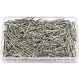 Gerade Pins, L: 16mm, Stärke 0,65mm, Silber, 25g