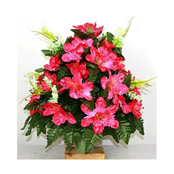 XL SPring Mixture Artificial Silk Flower Cemetery Bouquet Vase Arrangement
