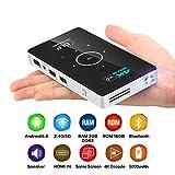 OTHA Mini Vidéoprojecteur, Android 6.0 Pico Projecteur Portable 2Go RAM WiFi Home Cinema 4K Lecture Vidéo, Ajustement Automatique des Trapèzes, Entrée HDMI/Vidéo TV/Jeux