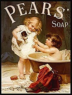 Weytff Pears SOAP Large Metal TIN Sign ` Vintage AD Shabby Chic Bathroom 8 X 12 Inches
