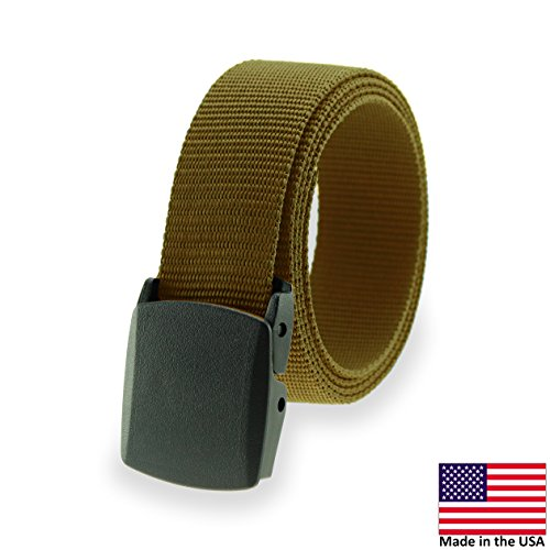 Military Style Tactical Belt - Made in USA by Thomas Bates (Khaki)