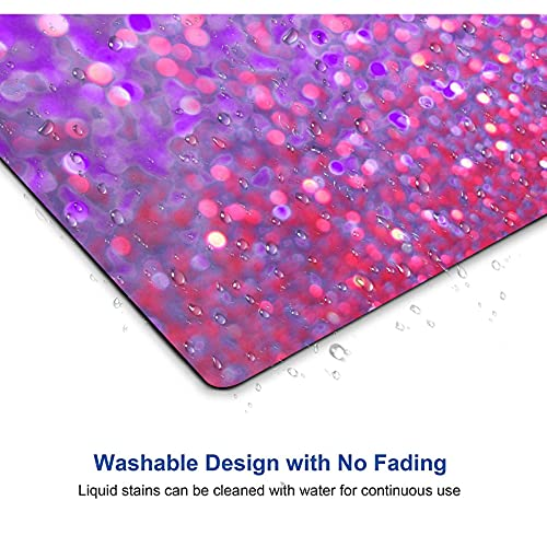Rainbow Glitter Background Non-Slip Rubber Mousepad Gaming Mouse Pad Mat 01 Photo #7