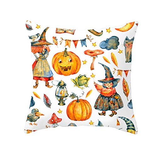 Kasoul Pillow Covers, Throw Pillow Covers Square Pillow Cases Super Soft Cushions for Sofa Car Home Decor Family Thanksgiving Halloween