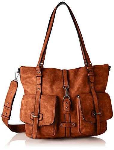 Tamaris Damen Bernadette Shopping Bag Henkeltasche Braun (Cognac)