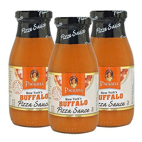 Paesana New York's Buffalo Pizza Sauce, Gluten Free, Kosher Certified, 8.5 OZ - Made in the USA (3 Pack)