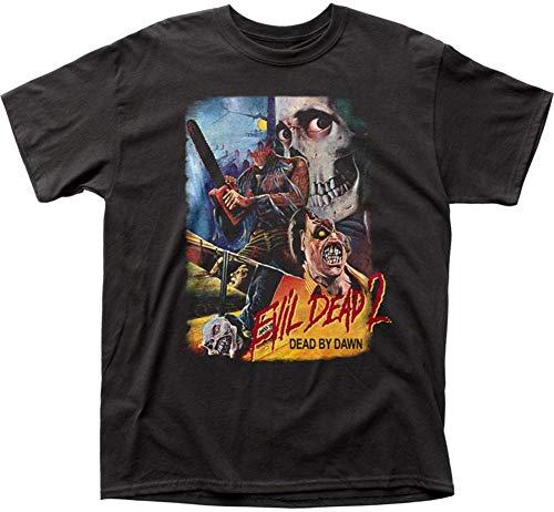 Camiseta adulta Pôster tailandês Evil Dead II, Preto, Small