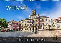 Weimar - das kulturelle Erbe (Wandkalender 2022 DIN A2 quer): Wandeln Sie auf den Spuren von Schiller und Goethe in der charmanten Kulturstadt Weimar (Monatskalender, 14 Seiten )