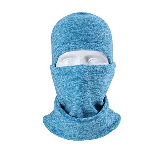 Artpixel Balaclava Ski Face Mask for Women Kids Men, Winter Neck Warmer Windproof Fleece Hood for Snowboarding Aqua