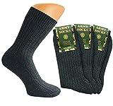 Good Deal Market 3 Paar Herren Army Socken, grün, Military Socken, Jäger, warm 39/42