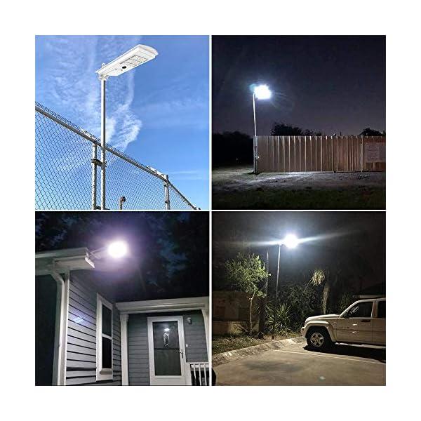 300W Solar Street Lights Outdoor, TENKOO Dusk to Dawn Wireless Solar Powered Led Pole Lamp with Motion Sensor IP65…