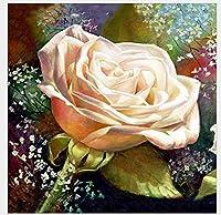 白いバラの手描き 創造性を刺激する500の教育玩具、家の装飾、Diyギフト、減圧玩具、取り外し可能