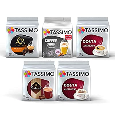 Tassimo Coffee Assorted Selection Pods - 5 Packs (64 Servings)