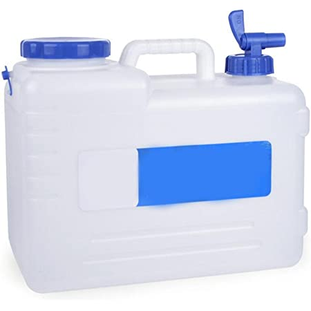 Katigan Outdoor Camping Travel Car Water Bucket Water Carrier Canister with Water-Tap /& Leak Proof Lid 15L