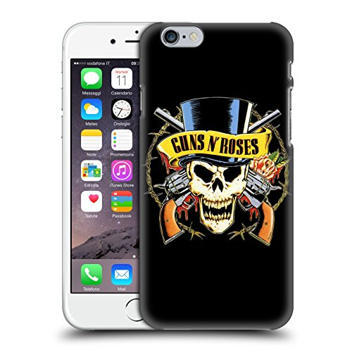 Head Case Designs Ufficiale Guns N' Roses Teschio Cappello Arte Chiave Cover Dura per Parte Posteriore Compatibile con Apple iPhone 6 / iPhone 6s