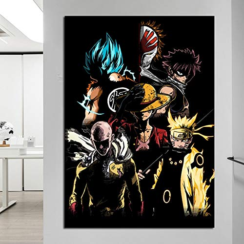 wopiaol Carteles e Impresiones Anime Naruto Wall Art Pictures Painting Wall Art para la Sala de Estar Home Decor50x75cm(Sin Marco)