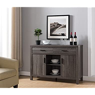 Smart home Modern Buffet Fine Dining Serving Table Stand Furniture (Distress Gray)