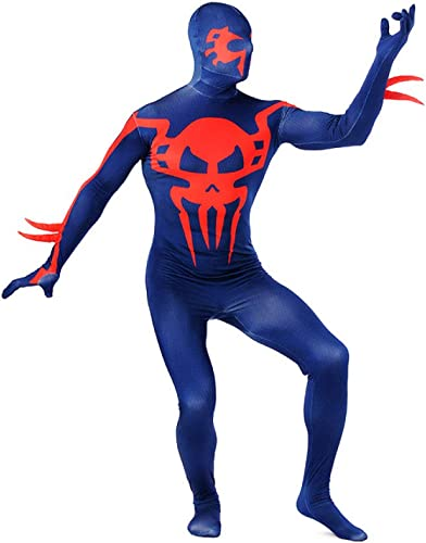 ASJUNQ Lycra Spandex Diablo Spiderman Capa Completa Impresión Tinte Medias Conjoined Bola De Mascarada De Halloween Body Sculpting,Adult-XXXL