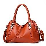 Bolso de mano para las mujeres de cuero vegano bolso de hombro Hobo bolso de la bolsa de la cartera para las niñas trabajo escolar y compras