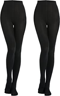 2 Pairs 400D Women's Black Thermal Warm Winter Fleece Tights