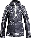 DC Envy Anorak Snowboard Jacket Womens Sz XS Black Mud Cloth Print