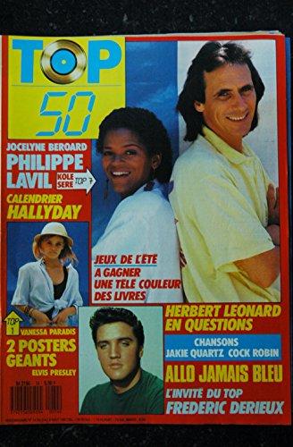 TOP 50 074 1987 08 PHILIPPE LAVIL HALLYDAY + POSTER VANESSA PARADIS ELVIS PRESLEY LEONARD
