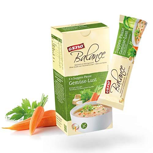 GEFRO Balance Suppen-Pause Gemüse-Lust: 6 Portionsbeutel, warme Mittagspaue & Mahlzeit