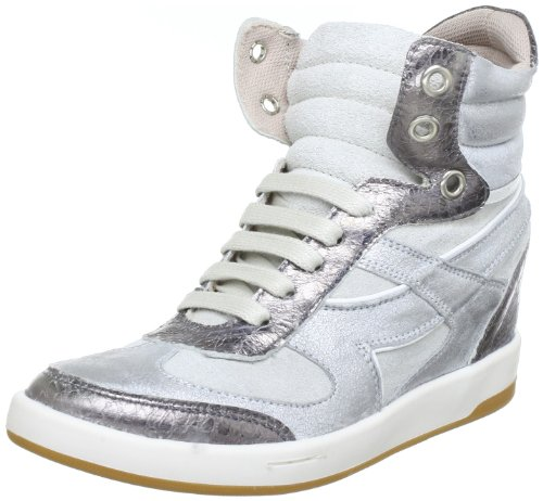 Bronx BX 353-730T467 43730-T467, Damen Sneaker, Silber (silver/ white 467), EU 38