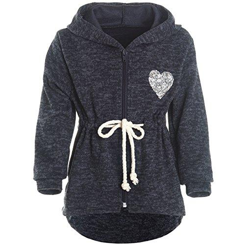BEZLIT BEZLIT Mädchen Kapuzen Jacke Pulli Pullover Glitzer Sweatshirt 21489 Blau Größe 116