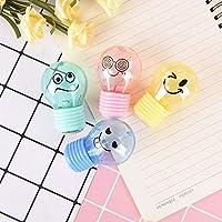 YANHUA 1Pcs Bulb style emotion plastic pencil sharpener kids gift stationery school supplies 6*4*2.5cm