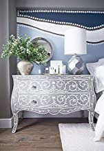 Estelle Mother of Pearl Inlay Chest of Drawers (Grey)