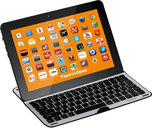 TechniSat Bluetooth Tastatur und Cover (für 10,1 Zoll Tablet-PCs / passgenau für z. B. TechniPad 10(G) und Samsung Galaxy Note 10.1)