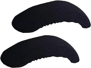 F Fityle 1 Par Cubierta Deslizante Estiramiento para Reposabrazos de Silla de Oficina Escritorio - Negro
