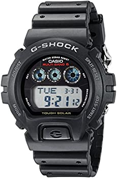 Casio Men's G-Shock Black Resin Solar-Powered Atomic Digital Watch