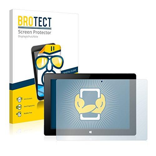 BROTECT Schutzfolie kompatibel mit Xoro PAD 10W4 (2 Stück) klare Bildschirmschutz-Folie