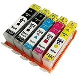 1 juego de cartuchos de tinta compatibles con HP 364XL 364 XL HP364 HP364XL Photosmart B010a B110a B110e B111a estation C510c Plus B209a