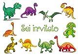 Edition Colibri 10 inviti per Festa di Compleanno; Motivo: Dinosauri / inviti di Compleanno per Bambini / in Italiano (10977 IT)