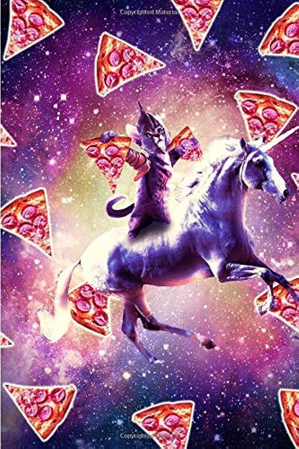 見物人ラフレシアアルノルディ逃げるWarrior Space Cat On Unicorn - Pizza Daily Weekly Planner