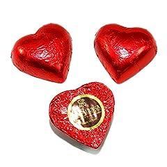 Idea Regalo - Cioccolatini Cuori Rossi Gianduia La Suissa Kg 1 - Praline di Cioccolato al Latte Ripieni di Morbida Crema Gianduia - Senza Glutine