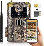 SuntekCam 4G App Live Video 4K 30MP cámara de Caza de, IP66, Servidor Gratuito, escaneo del código QR del Mando a Distancia, conexión satisfactoria, incluida la Tarjeta SIM y la Tarjeta SD.HC-900PRO+