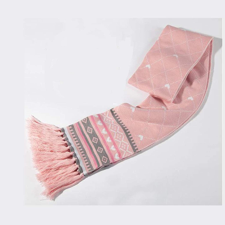 JUN Scarf Ladies Winter Cute Long Knit Soft Tassels Wild Warm Thick Shawl (color   A)