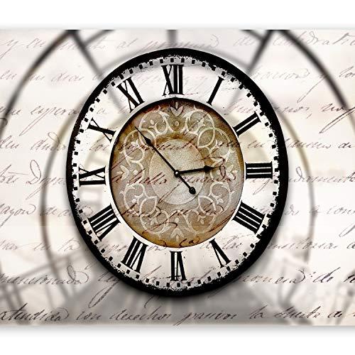 murando Papier peint intissé 250x175 cm Décoration Murale XXL Poster Tableaux Muraux Tapisserie Photo Trompe l'oeil temps Horloge horloge 10110905-100