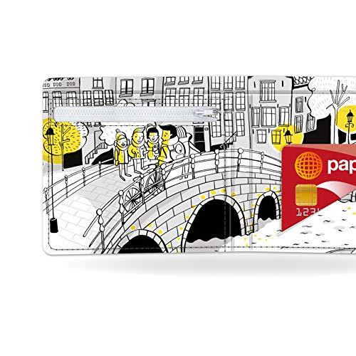 Midnight ON A Bridge - Pappwallet - Portemonaie - Geldbörse - aus absolut reissfestem und wasserabweisenden Tyvek® - Made in Germany