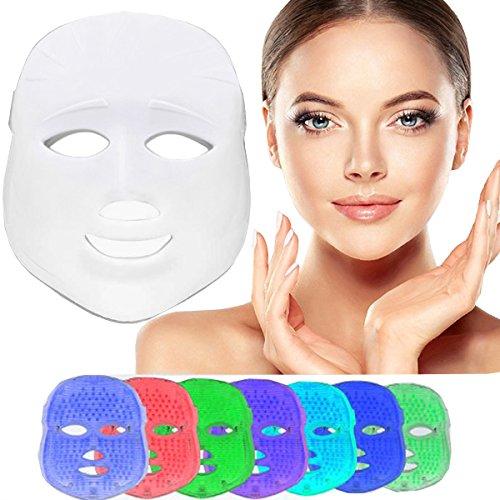 7 Colores Máscara de Luz LED facial, Beauty Fotón Tratamiento Terapia de Luz para el Cuidado Facial, máquina de belleza, Rejuvenecimiento de la piel, eliminación de arrugas, antienvejecimiento