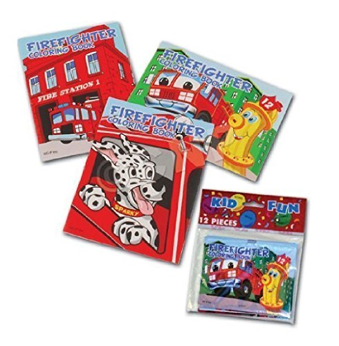 Assorted Fireman Fire Engine Mini Coloring Books (2-Pack of 12)
