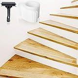 Bojim Cinta antideslizante por escaleras Rayas Juego de cintas adhesivas transparentes Esterillas para escaleras Piso antideslizante Antideslizante con rodillo Tiras autoadhesivas antideslizantes