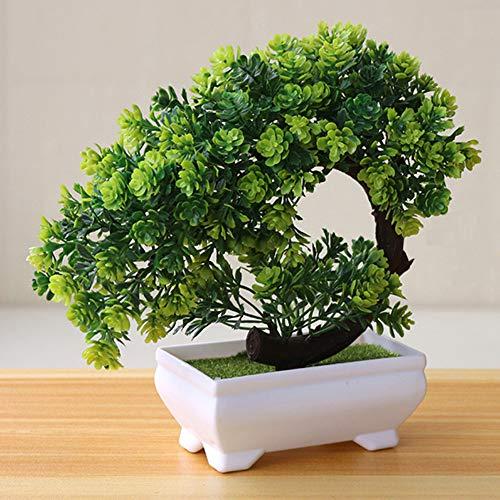 Gigicloud - Planta artificial de bonsai para decoración de oficina, hogar, ventana, patio, verde