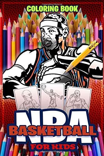 NBA For kids : NBA Basketball Coloring Book: Activity Book : Biography...