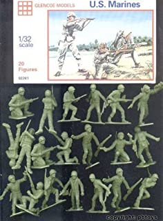 Glencoe Models 1:32 Scale U.S. Marines 20 Figures by Glencoe Models