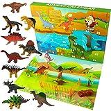 Ogrmar Dinosaurs Advent Calendar for Kids 2021 Christmas Countdown Calendar with 24 Pcs Animal Toy for Children